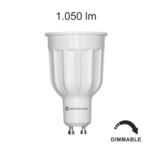 lampadina led power gu10 12w luce calda 827 beneito faure dimmerabile